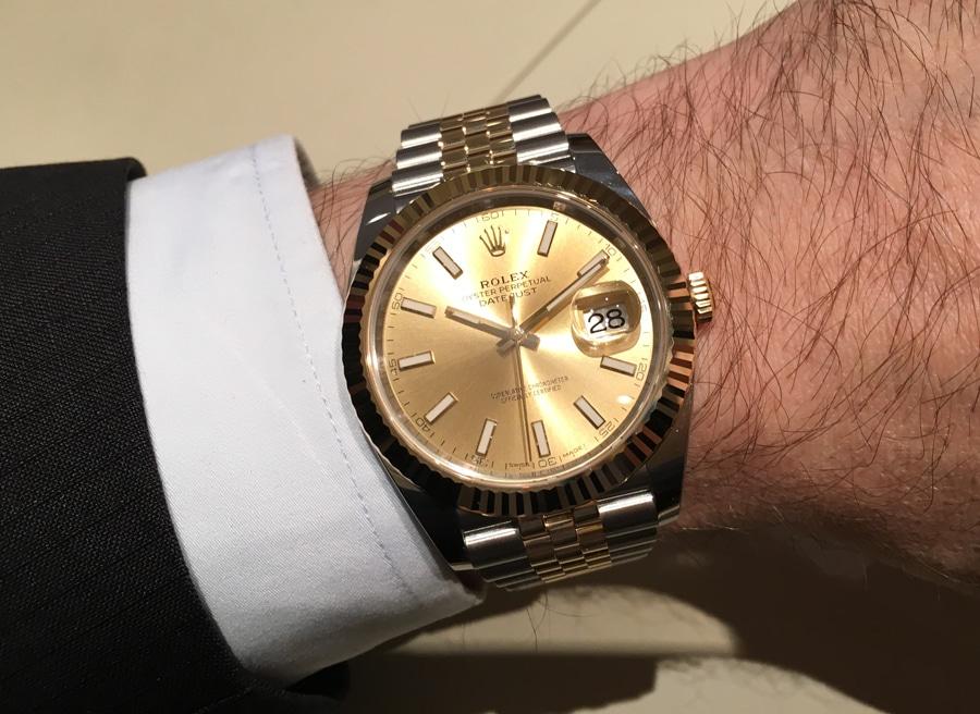 Rolex Oyster Perpetual Datejust 41 am Handgelenk