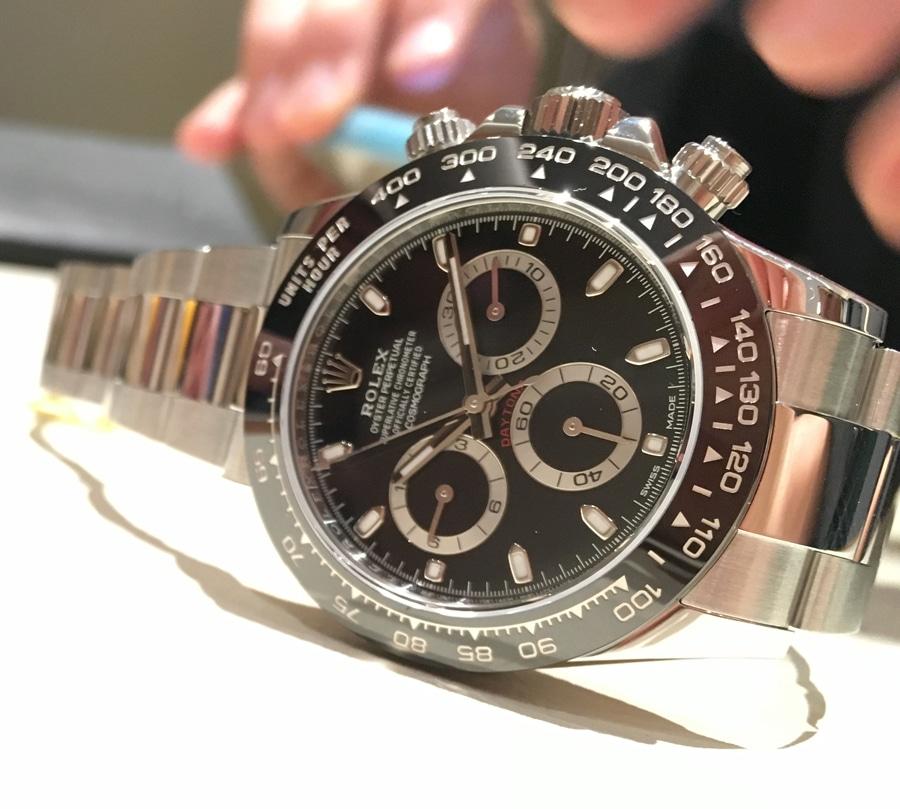 Rolex: Oyster Perpetual Cosmograph Daytona in Schwarz, gesehen in Basel 2016