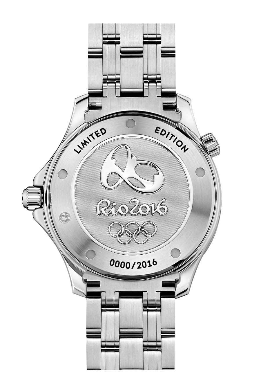 Gehäuseboden der Omega Seamster 300M Rio 2016