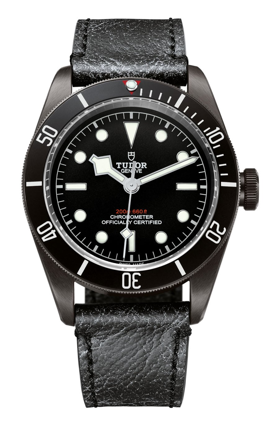 Tudor: Heritage Black Bay Dark mit Lederband