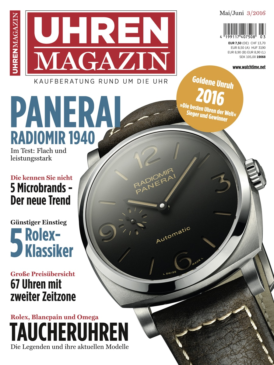 UHREN-MAGAZIN 3/2016, Ausgabe Mai/Juni 2016