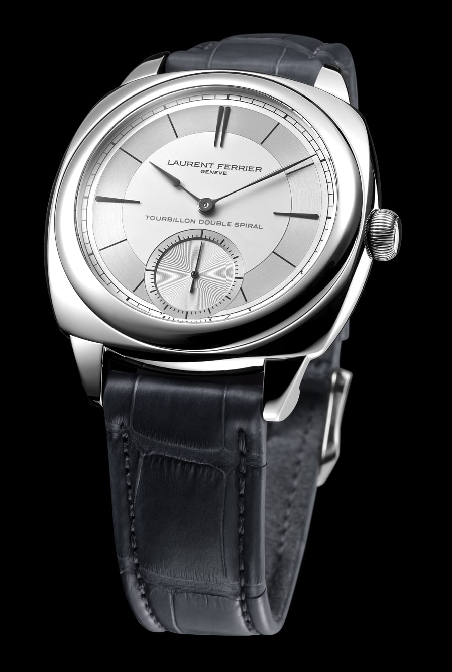 Laurent Ferrier: Galet Classic Square Tourbillon Double Balance-Spring Sector Dial – Baselworld 2016