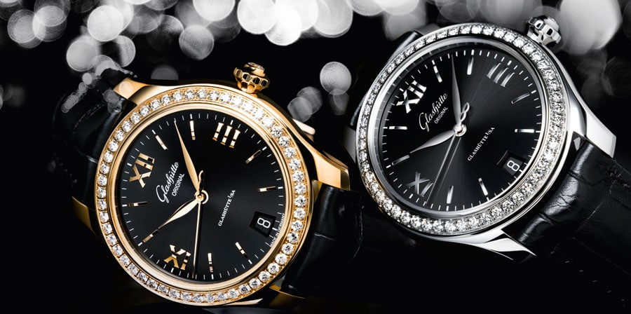 Glashütte Original: Lady Serenade mit Diamantenbesatz