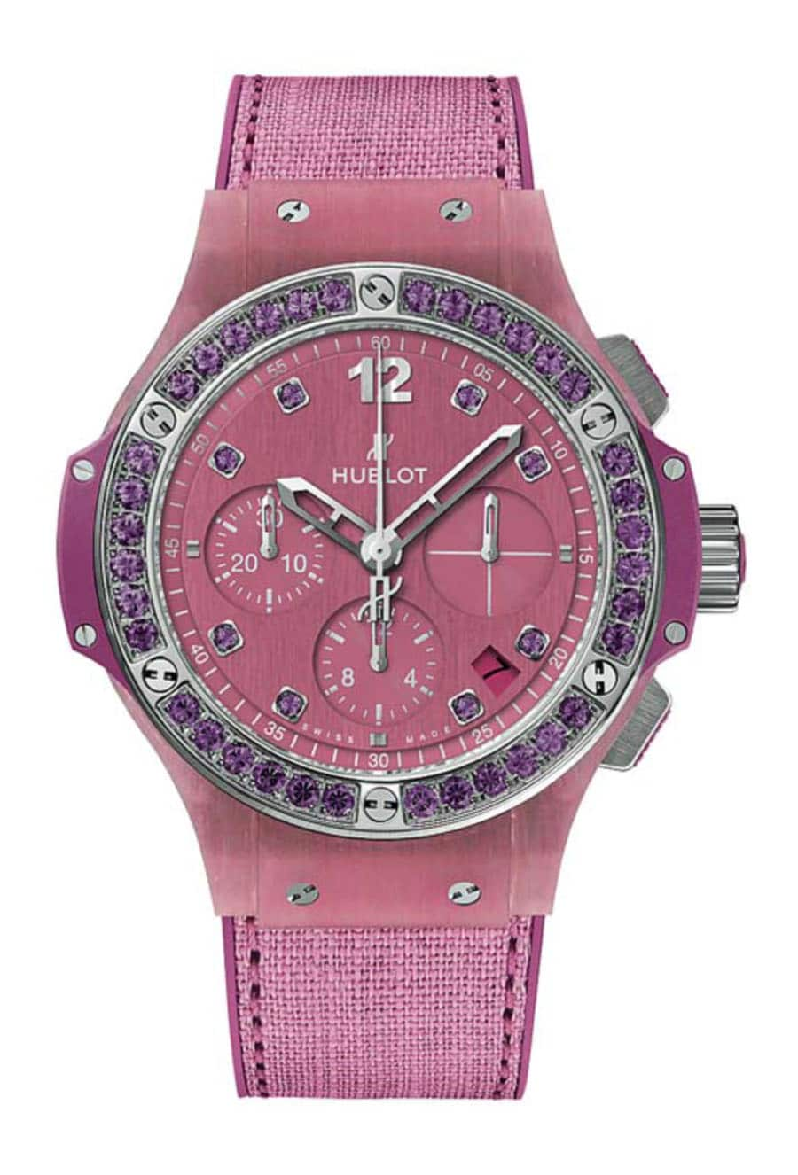 Hublot: Big Bang Tutti Frutti Linen in Rosa