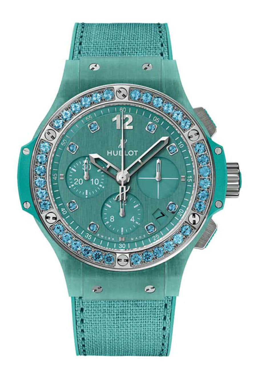 Hublot: Big Bang Tutti Frutti Linen in Türkis