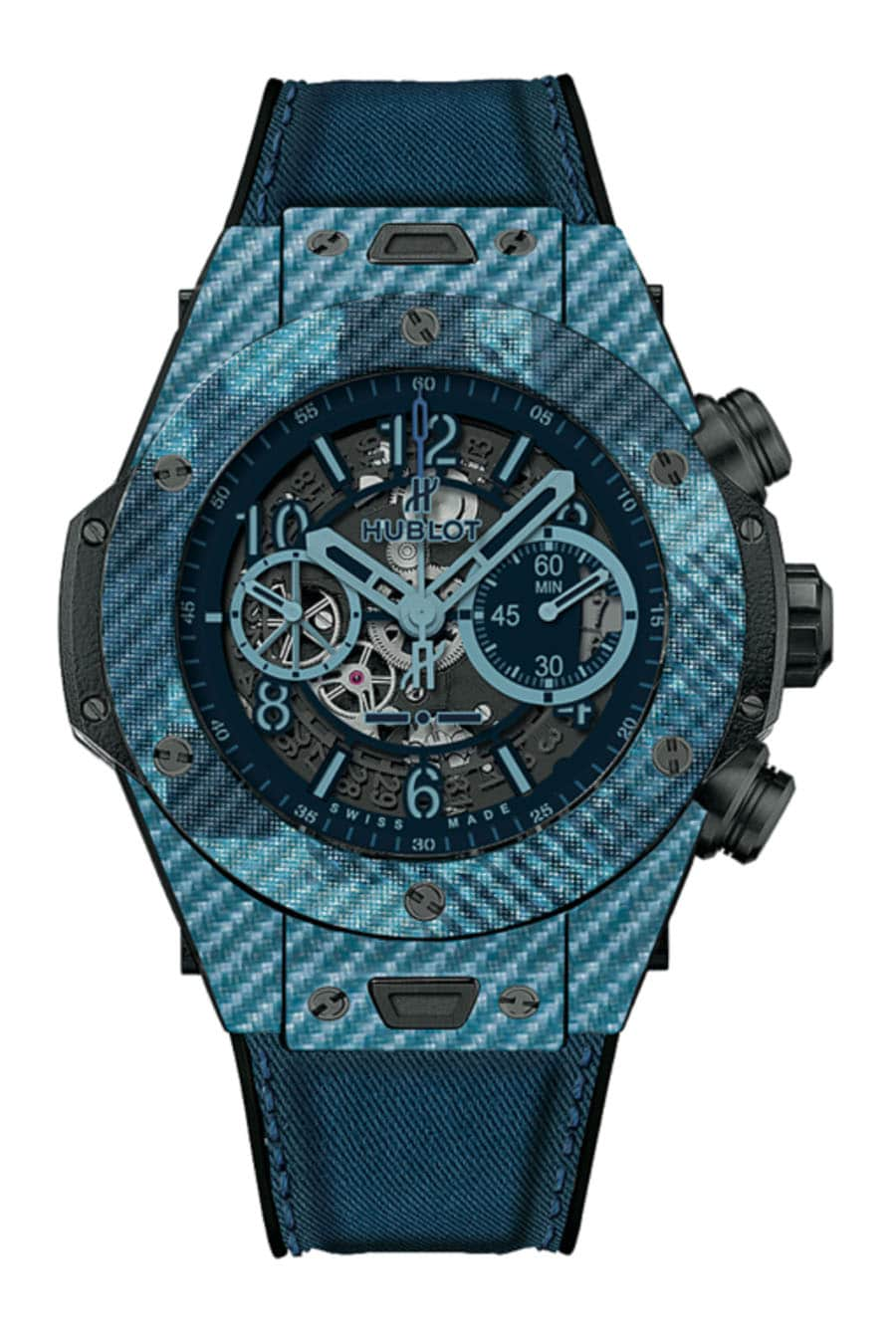 Hublot: Big Bang Unico Italia Independent in Blau