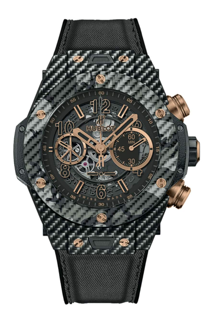 Hublot: Big Bang Unico Italia Independent in Schwarz