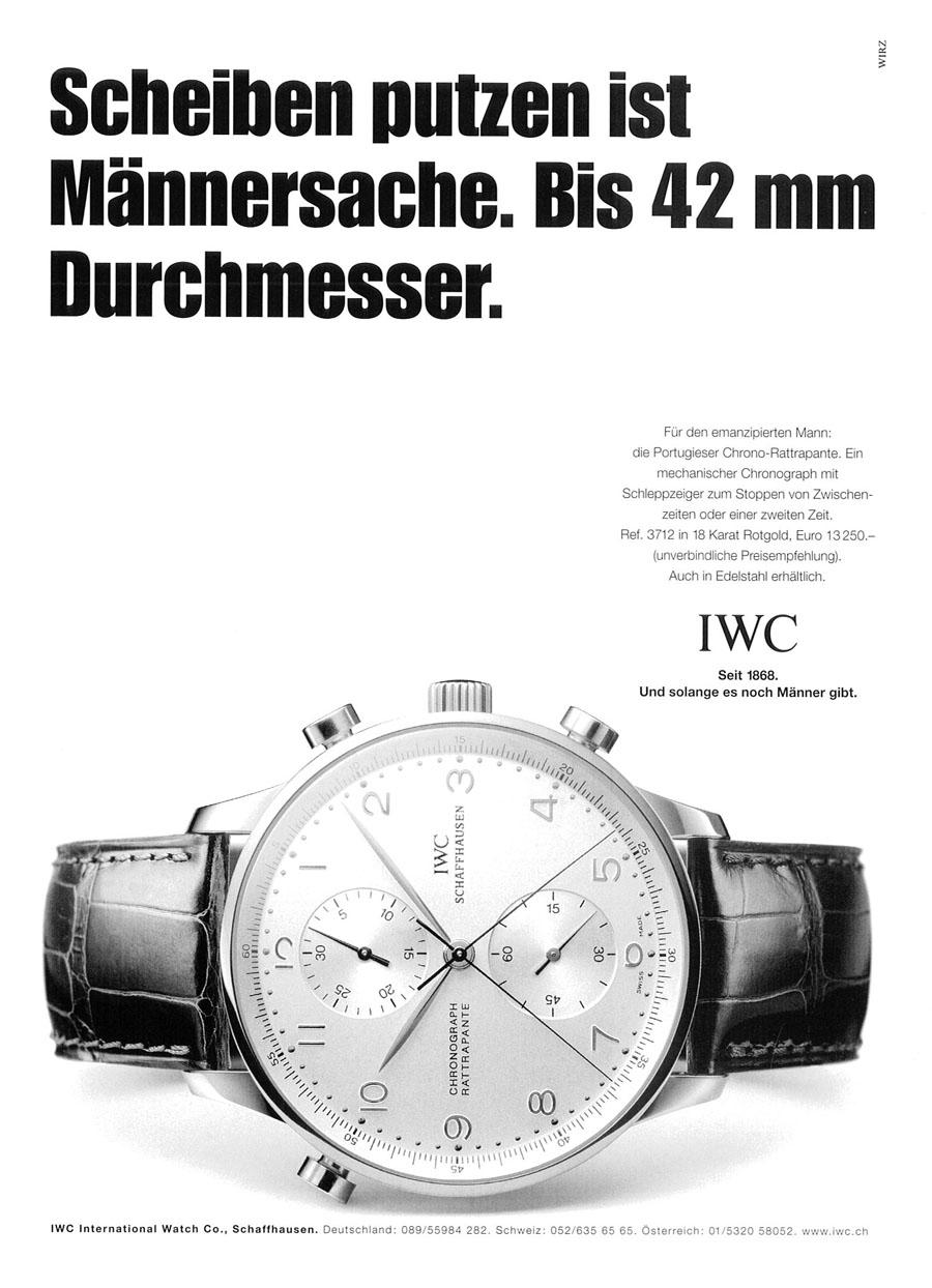 Provokative IWC-Werbung