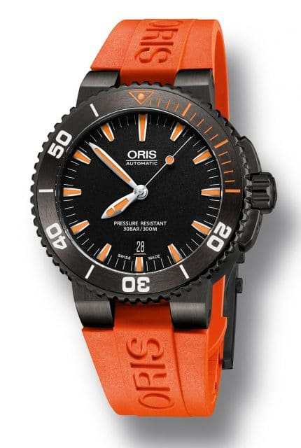 Oris: Aquis Date in Orange