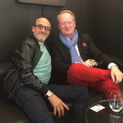 Richard Mille und UHREN-MAGAZIN-Chefreadkteur Thomas Wanka beim Interview in der Münchener Boutique.