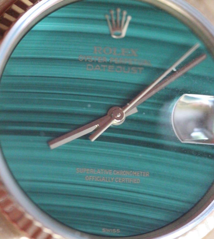 Rolex Datejust Referenz 16018 mit Malachit-Zifferblatt