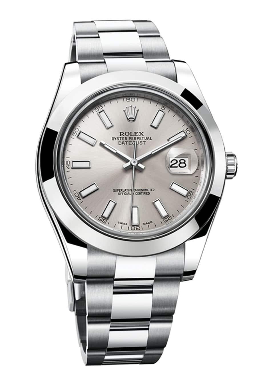 Die Rolex Oyster Perpetual Datejust II besitzt ein Datum mit Lupe, Preis: 6.500 Euro