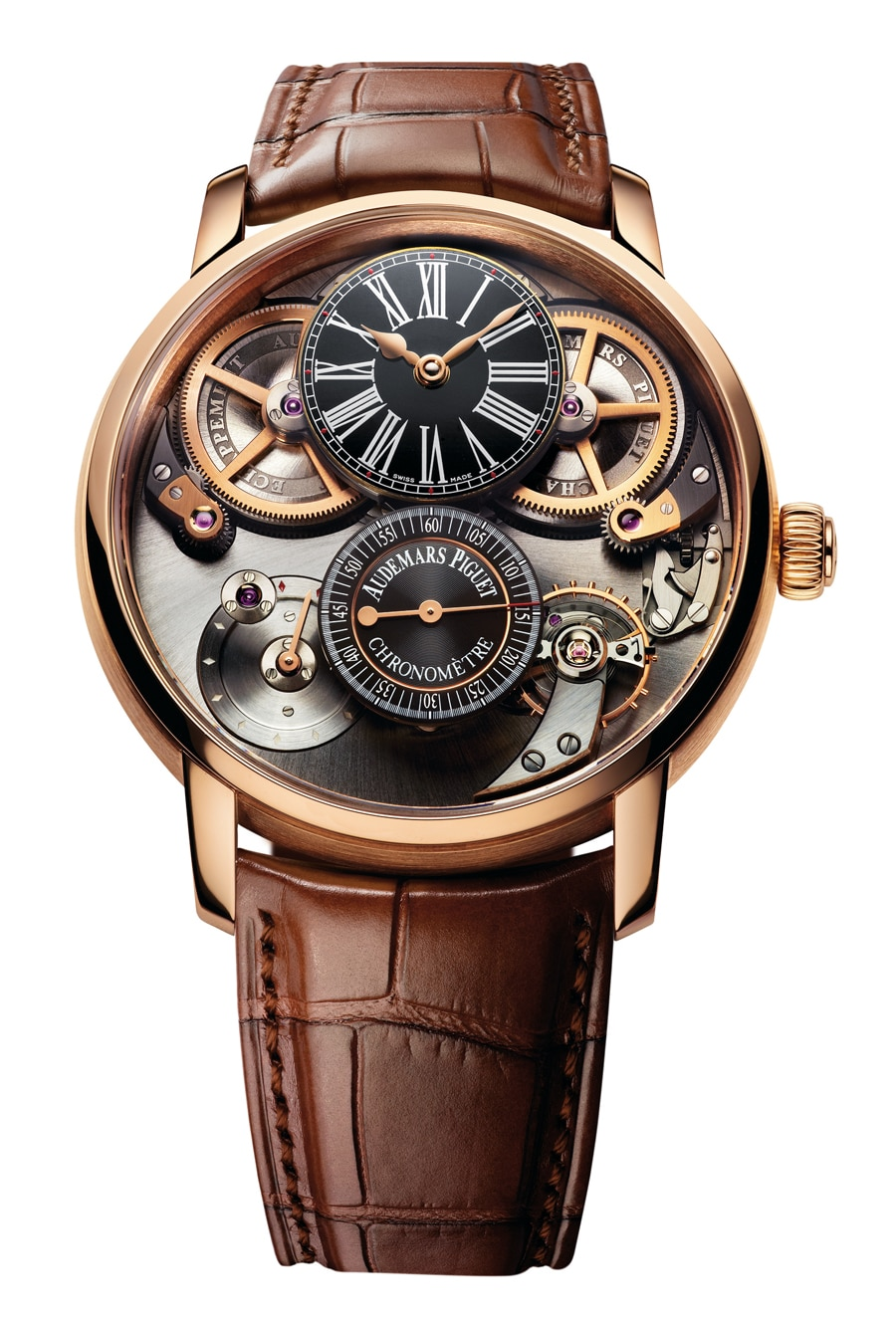 Audemars Piguet: Jules Audemars Chronometer, 46 Millimeter, Roségold, 209.700 Euro