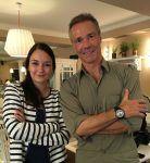 Sprachen über Uhren und Umweltschutz: Der Schauspieler Hannes Jaenicke und Melanie Feist, verantwortliche Online-Redakteurin von Watchtime.net