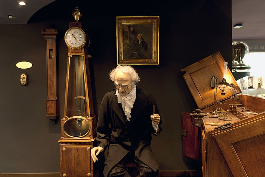 Werkstatt Jacques-Frédéric Houriets im Musée d'Horlogerie du Locle