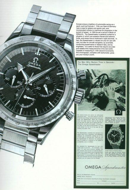 Omega Speedmaster CK2915 in der Werbung