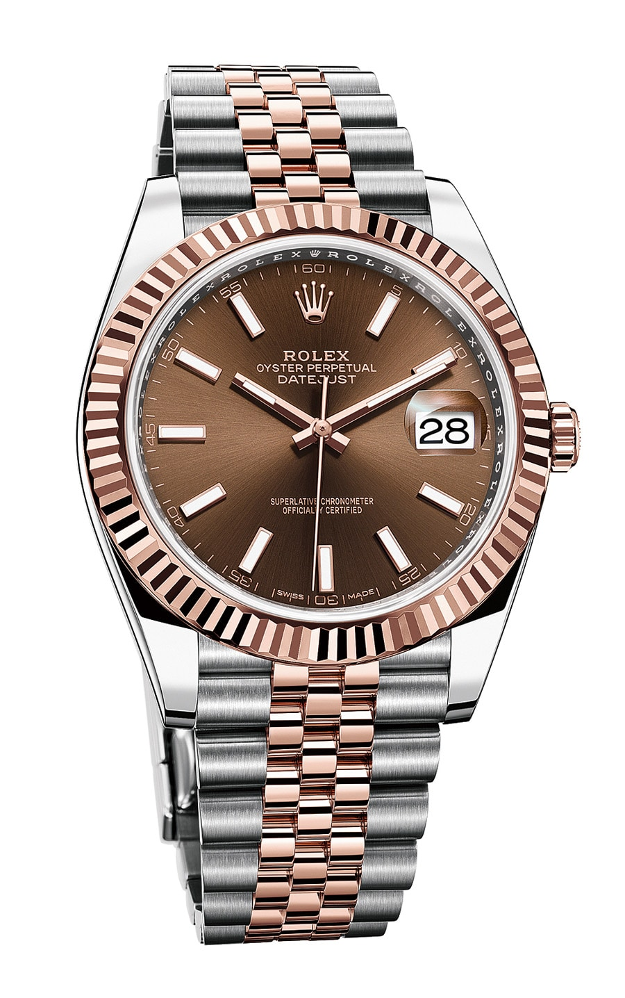 Rolex: Oyster Perpetual Datejust 41 in Rolesor Everose mit Jubilé-Band
