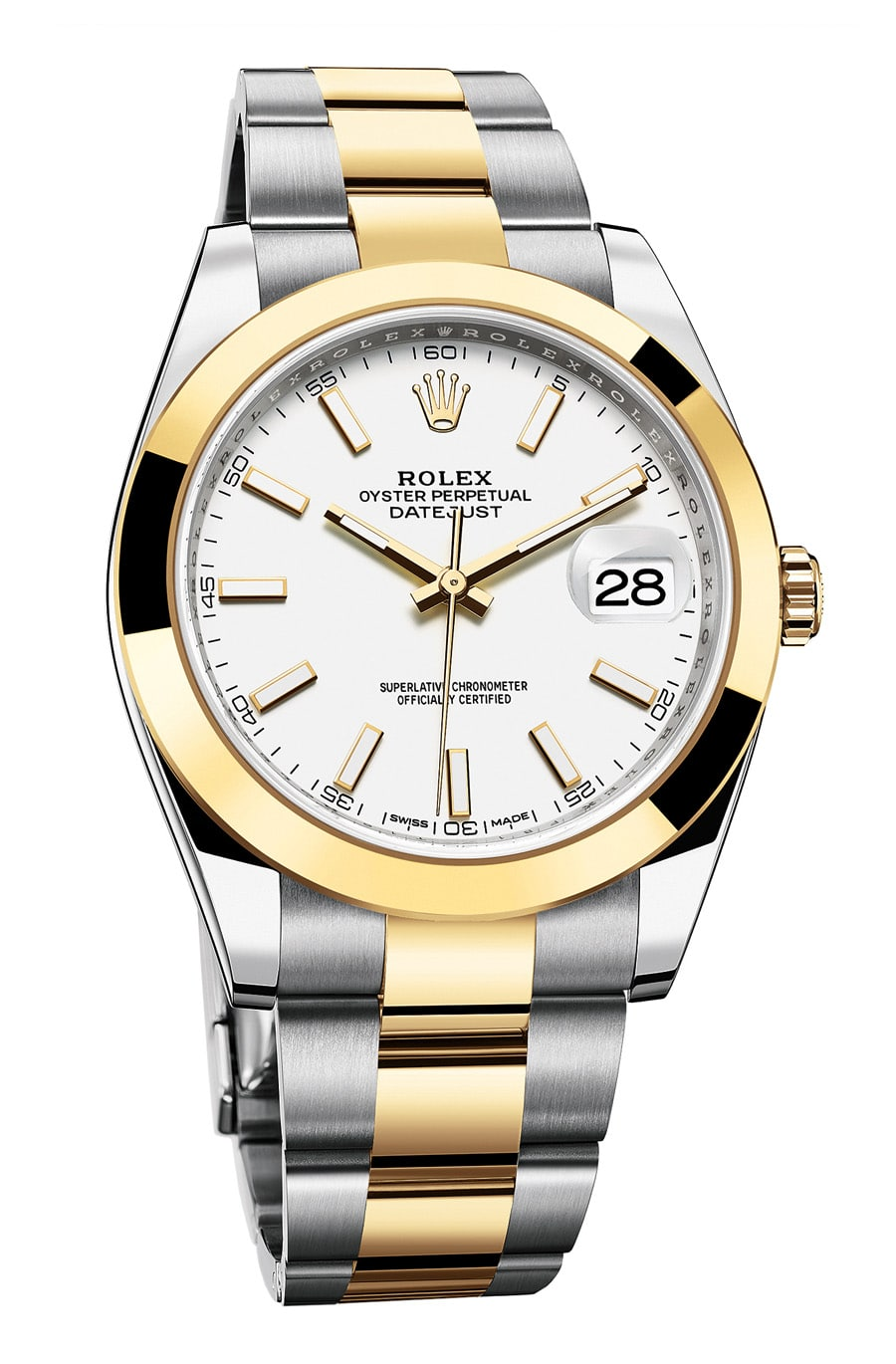 Rolex: Oyster Perpetual Datejust 41 in Rolesor gelb mit Oyster-Band