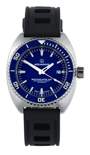 Aquadive Taucheruhr: Bathyscaphe 100 Blau