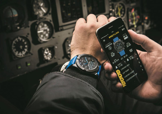 Exospace B55: Den Smartchronographen betrachtet Breitling als Instrument für die Luftfahrtprofis der Zukunft.