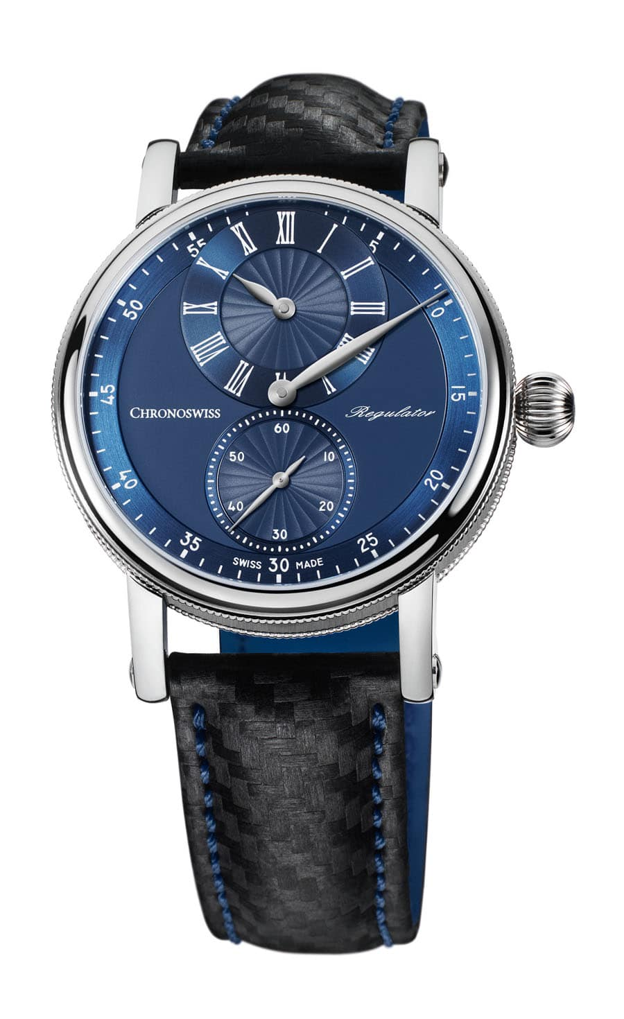 Chronoswiss: Sirius Regulator Classic mit blauem Zifferblatt
