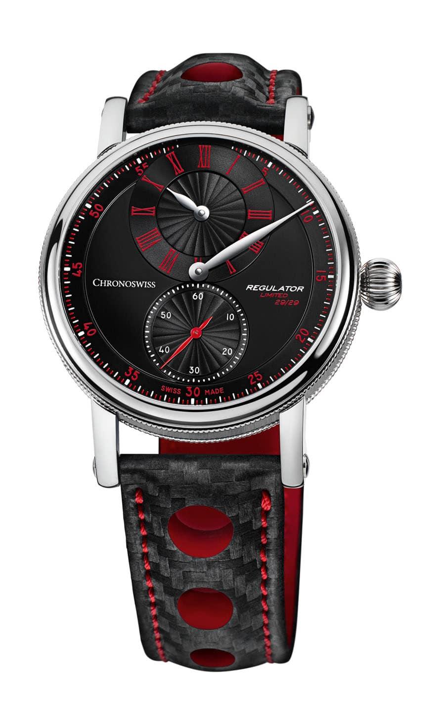 Chronoswiss: Sirius Regulator Classic in den Farben Schwarz und Rot
