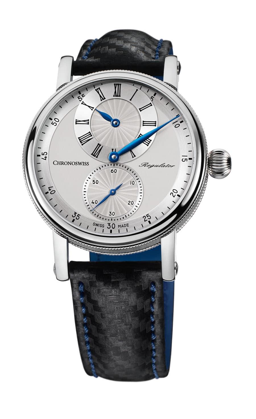 Chronoswiss: Sirius Regulator Classic in den Farben Silber und Blau