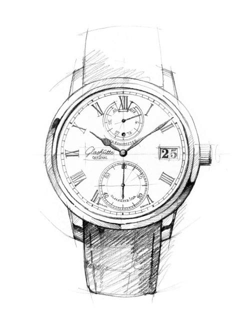 Entwurf der Senator Chronometer von Glashütte Original