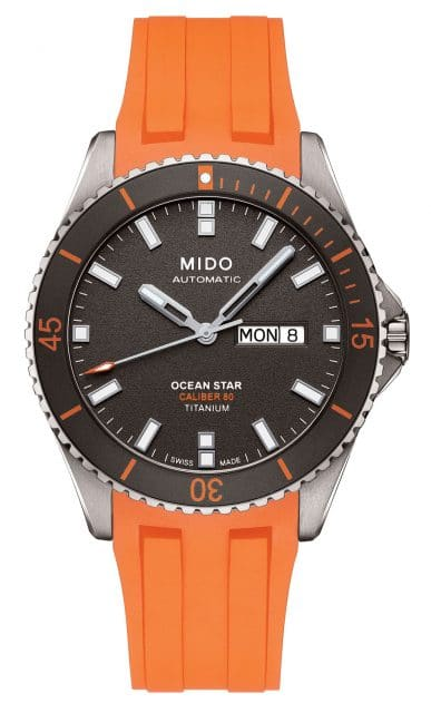 Mido Taucheruhr: Ocean Star Caliber 80 Titanium