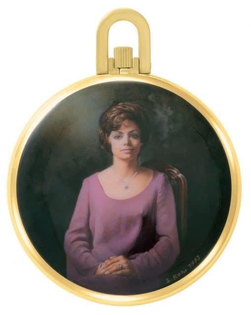 Métiers d'Ar bei Patek Philippet: Anfang der 1970er-Jahre schuf die Emailleurin Susanne Rohr dieses zeitgemäße Porträt auf einer Uhr