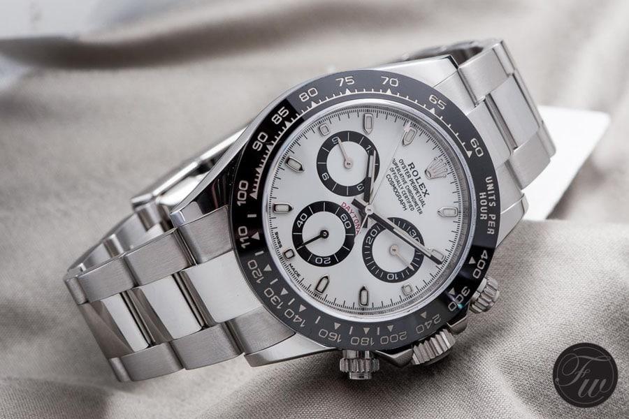 Die Rolex Daytona Referenz 116500 LN misst 40 Millimeter im Durchmesser