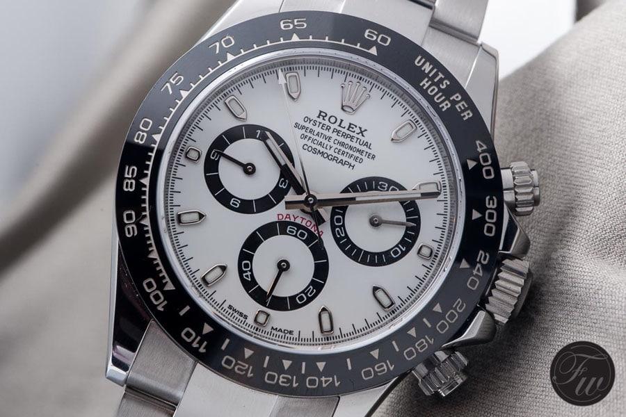 Rolex Daytona Referenz 116500 LN mit weißem Zifferblatt