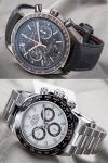 Die neue Rolex Daytona Referenz 116500LN vs. Omega Speedmaster Grey Side of the Moon Meteorite