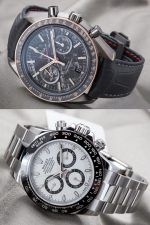 Die neue Rolex Daytona Referenz 116500LN vs. Omega Speedmaster Grey Side of the Moon Meteorite