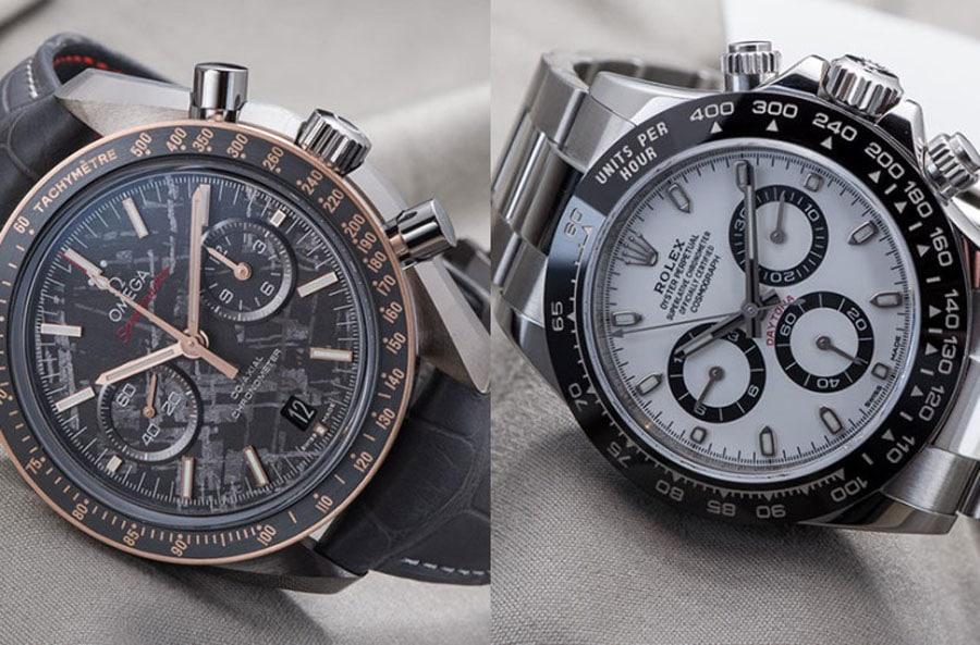 Rolex Daytona Referenz 116500 LN vs Omega Speedmaster Grey Side Of The Moon Meteorite