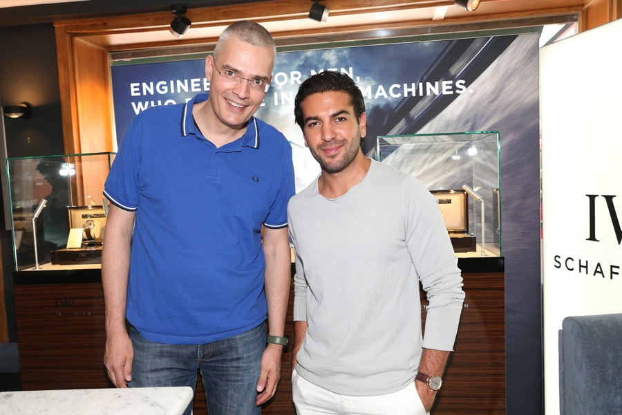 Chronos-Chefredakteur Rüdiger Bucher mit Fack-ju-Göhte-Star Elyas M'Barek
