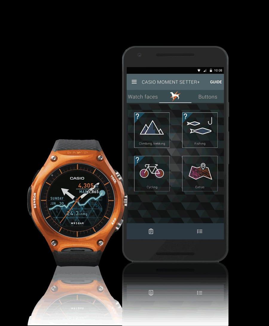 Die Casio WSD-F10 funktioniert perfekt mit einem Android-Smartphone