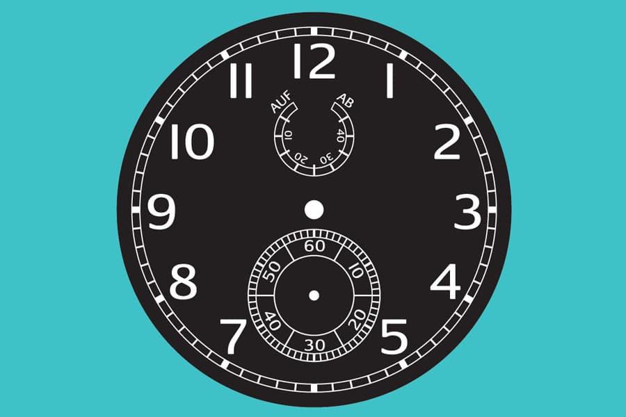 Schiffschronometer-Zifferblatt