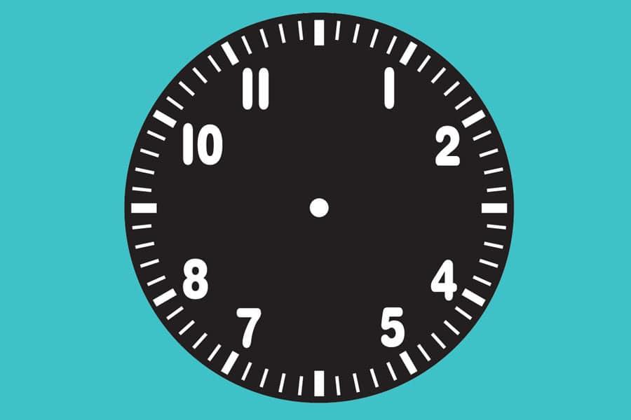 Zifferblatt einer Fliegeruhr
