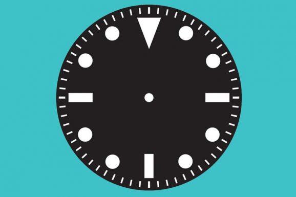 Zifferblatt einer Taucheruhr