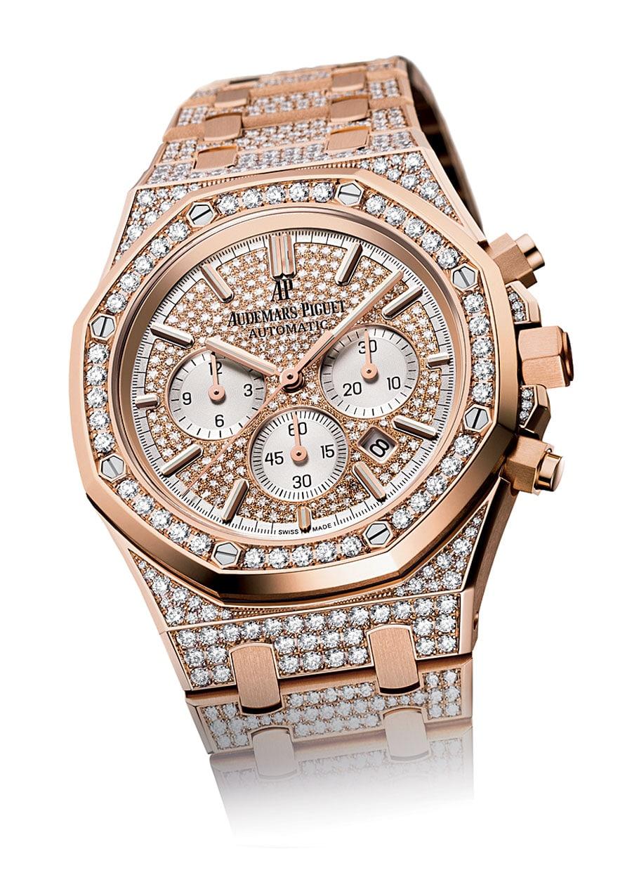 Audemars Piguet: Royal Oak Chronograph mit 966 Diamanten