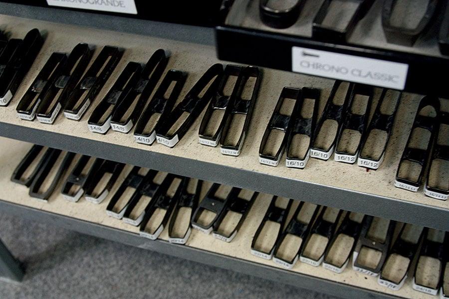 Bandformen zum Ausstanzen aus Leder