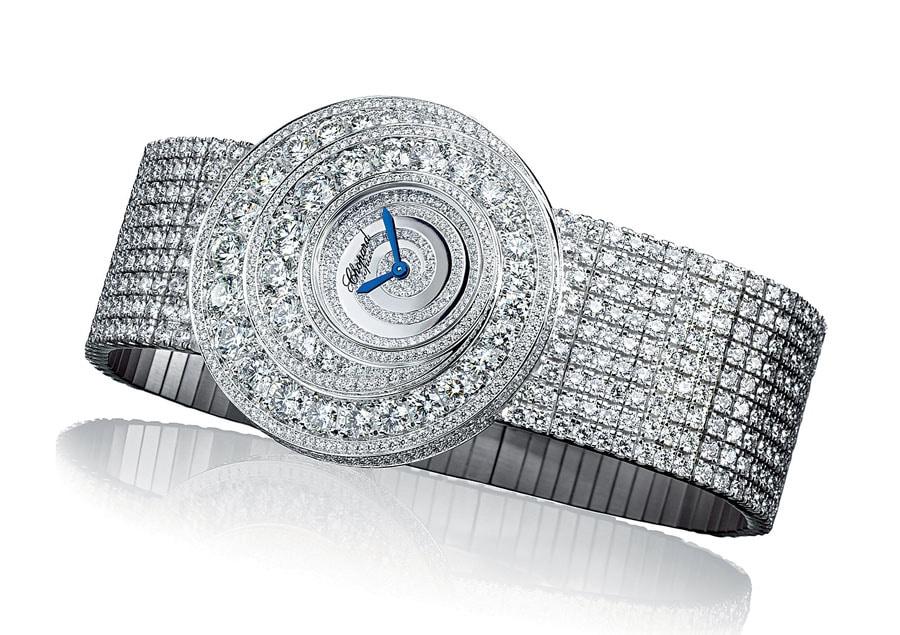 Ganz ausgefasste Haute-Joaillerie-Uhr von Chopard