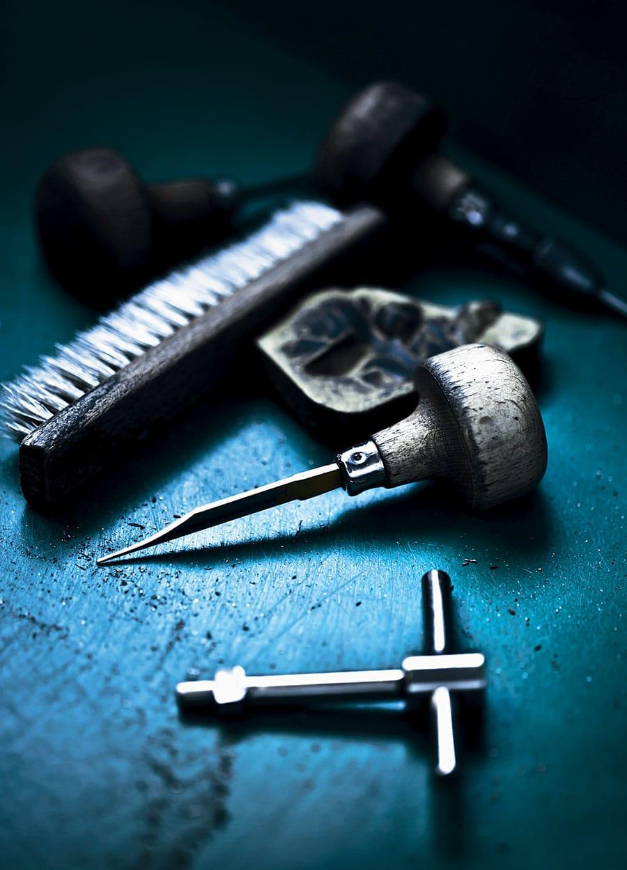 Werkzeuge des Edelsteinfassers
