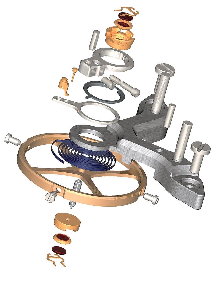 Alle Bauteile einer KIF-Stoßsicherung