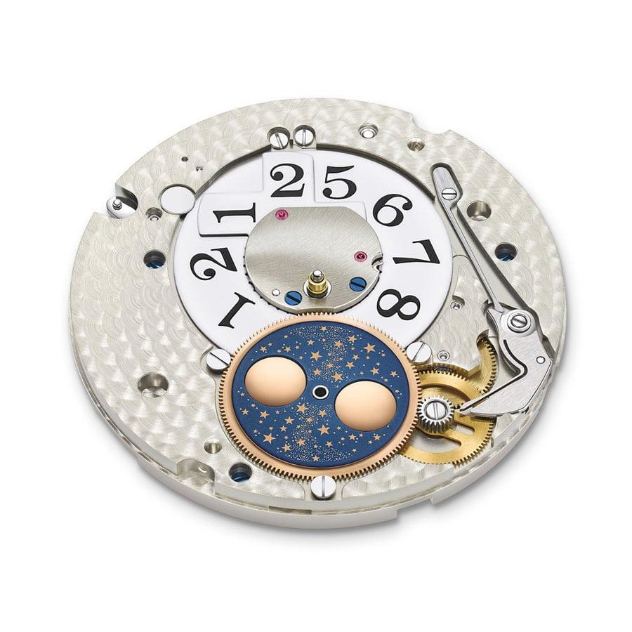 Lange-Manufakturkaliber L086.5 mit den Mechanismen für Großdatum und Mondphase