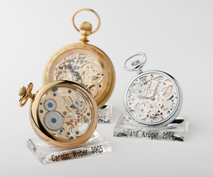 Schülerarbeiten der Uhrmacherschule Alfred Helwig