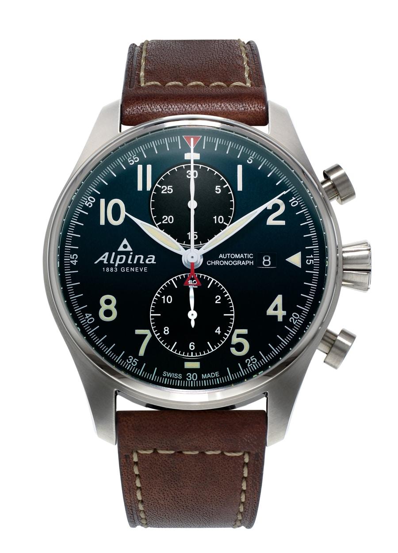 Alpina: Startimer Pilot Automatic Chronograph mit blauem Zifferblatt