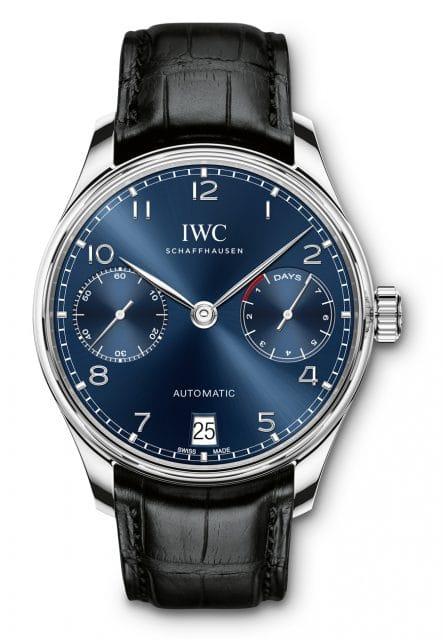 IWC Portugieser Automatic mit blauem Zifferblatt (12.700 Euro)