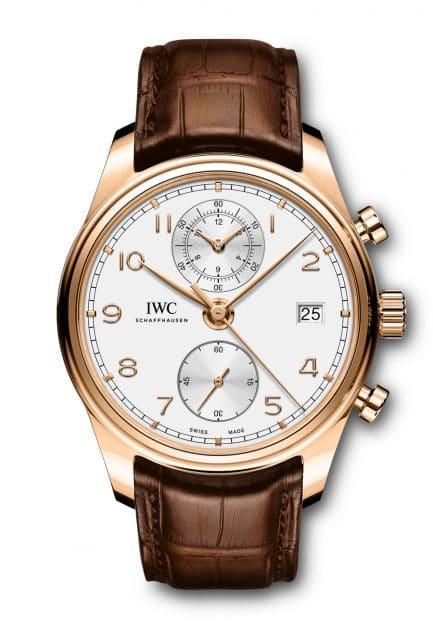 Aktueller Vertreter der Uhrenlinie: der 2017 überarbeitete IWC Portugieser Chronograph Classic (21.900 Euro)